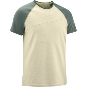 Edelrid Greenclimb Camiseta Hombre, beige/azul
